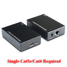 hdmi over single cat5-cat5e-cat6 extender
